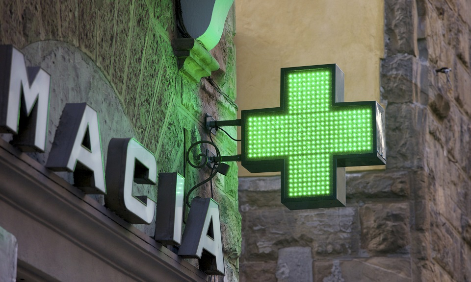 Pharmacy Sign In Florence, Italy